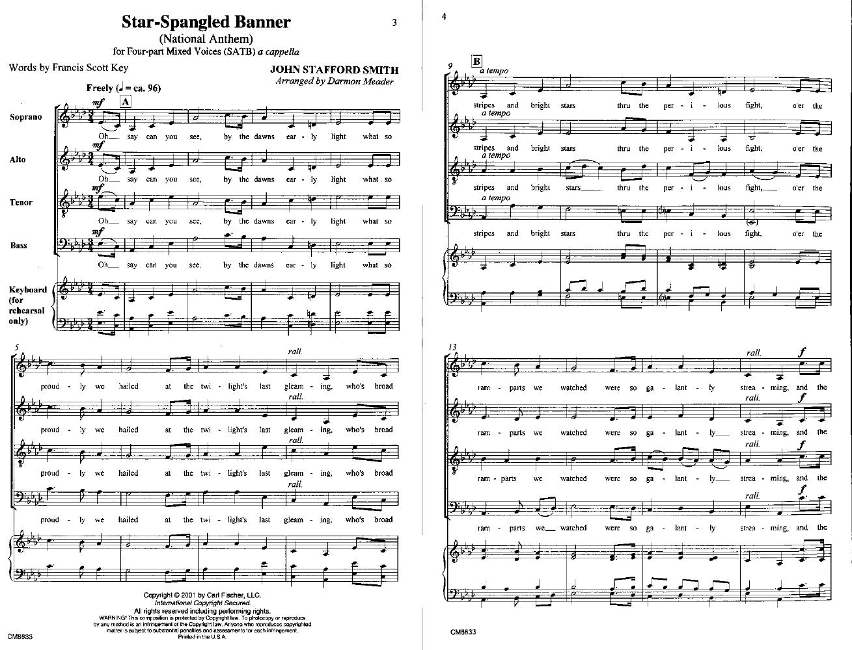The Star Spangled Banner Satb Arr Darmon J W Pepper Sheet Music