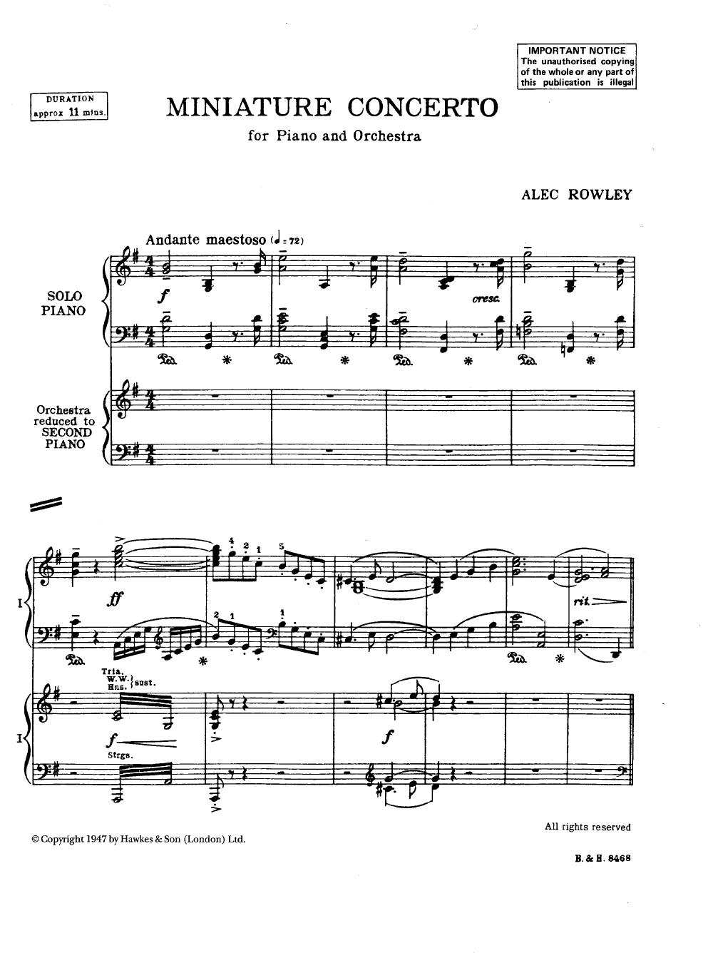Miniature Concerto by Alec Row...