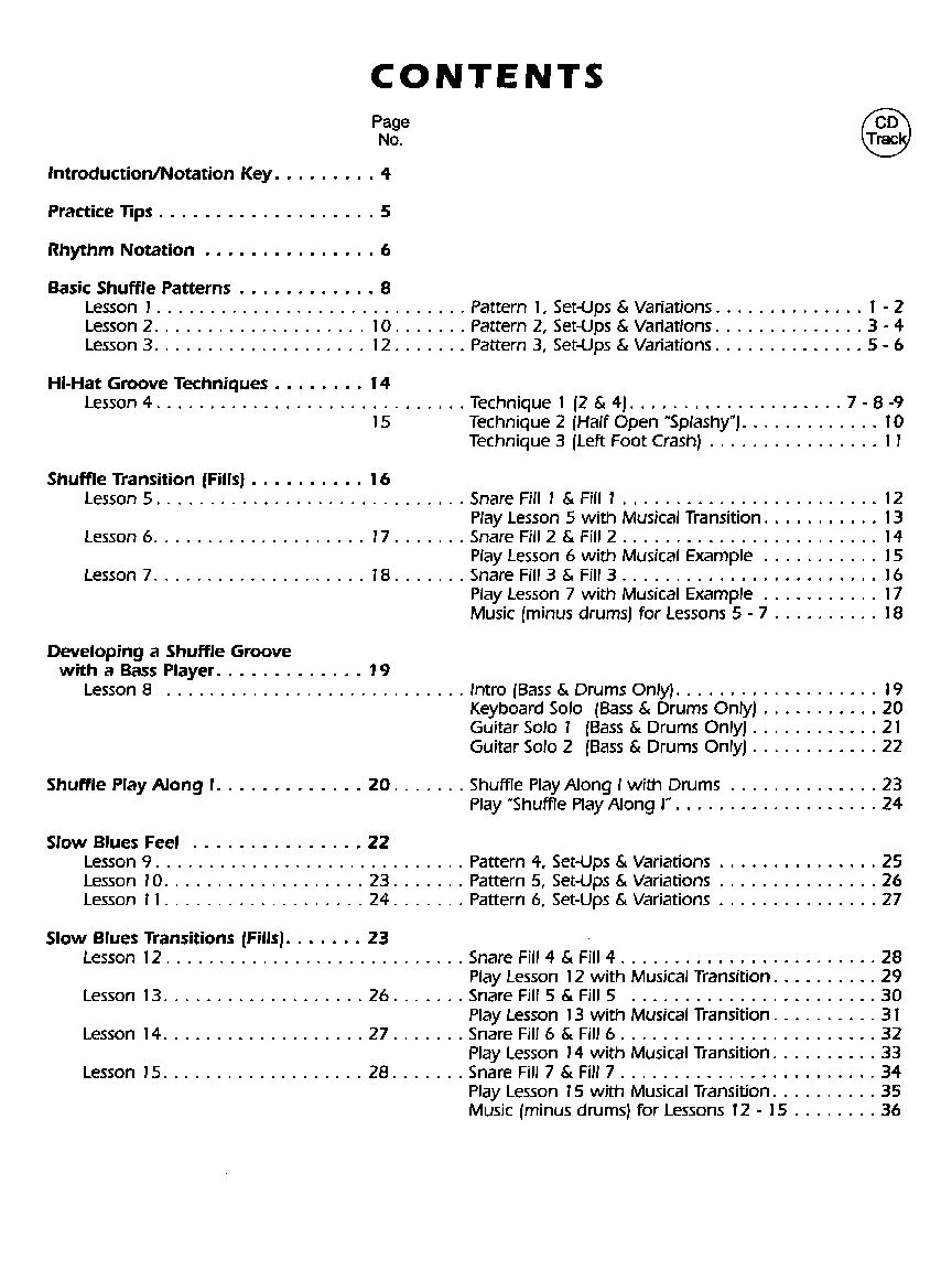 Blues Drum Basics-Book/CD (Drum Set&nbs | J W  Pepper Sheet