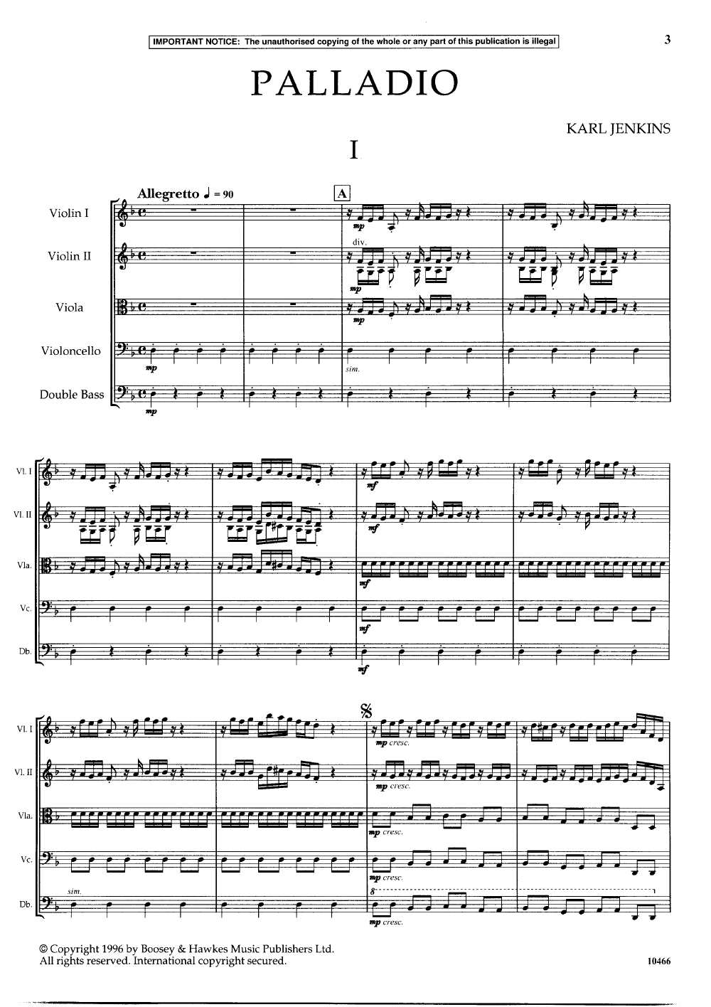 Palladio by Karl Jenkins| J W  Pepper Sheet Music