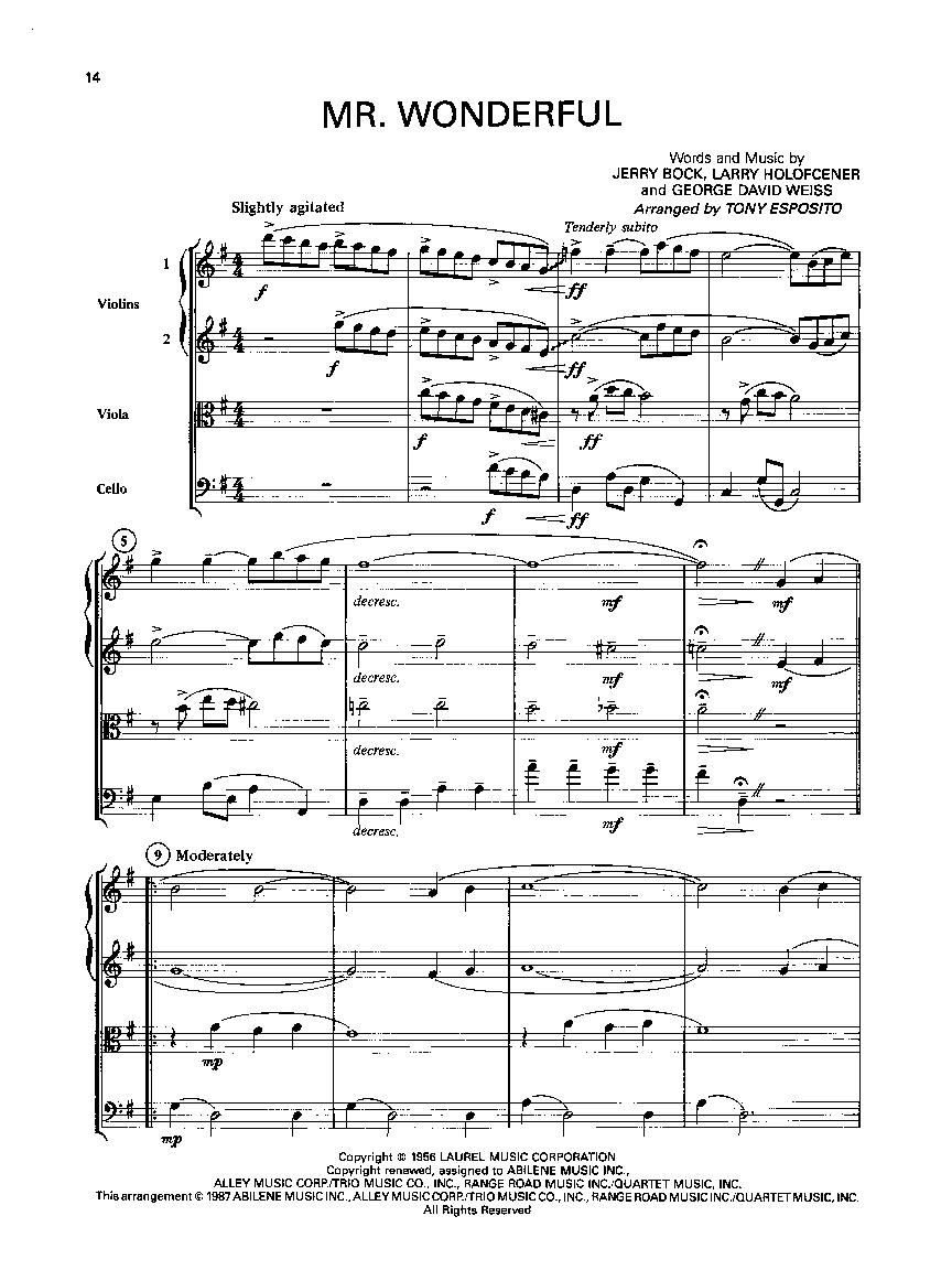 Best of Broadway-String Quartet (String | J W  Pepper Sheet Music