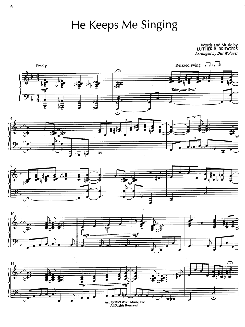 A Touch of Jazz (Piano) by Various/arr  Wolaver| J W  Pepper Sheet