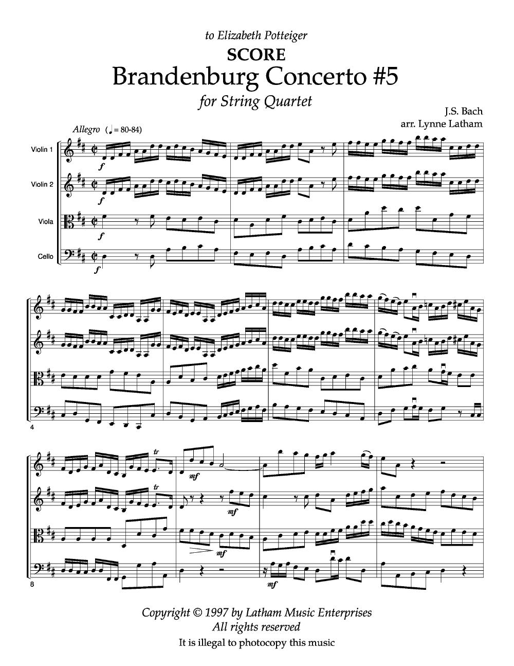 Bach: Brandenburg Concerto No.5, third movement