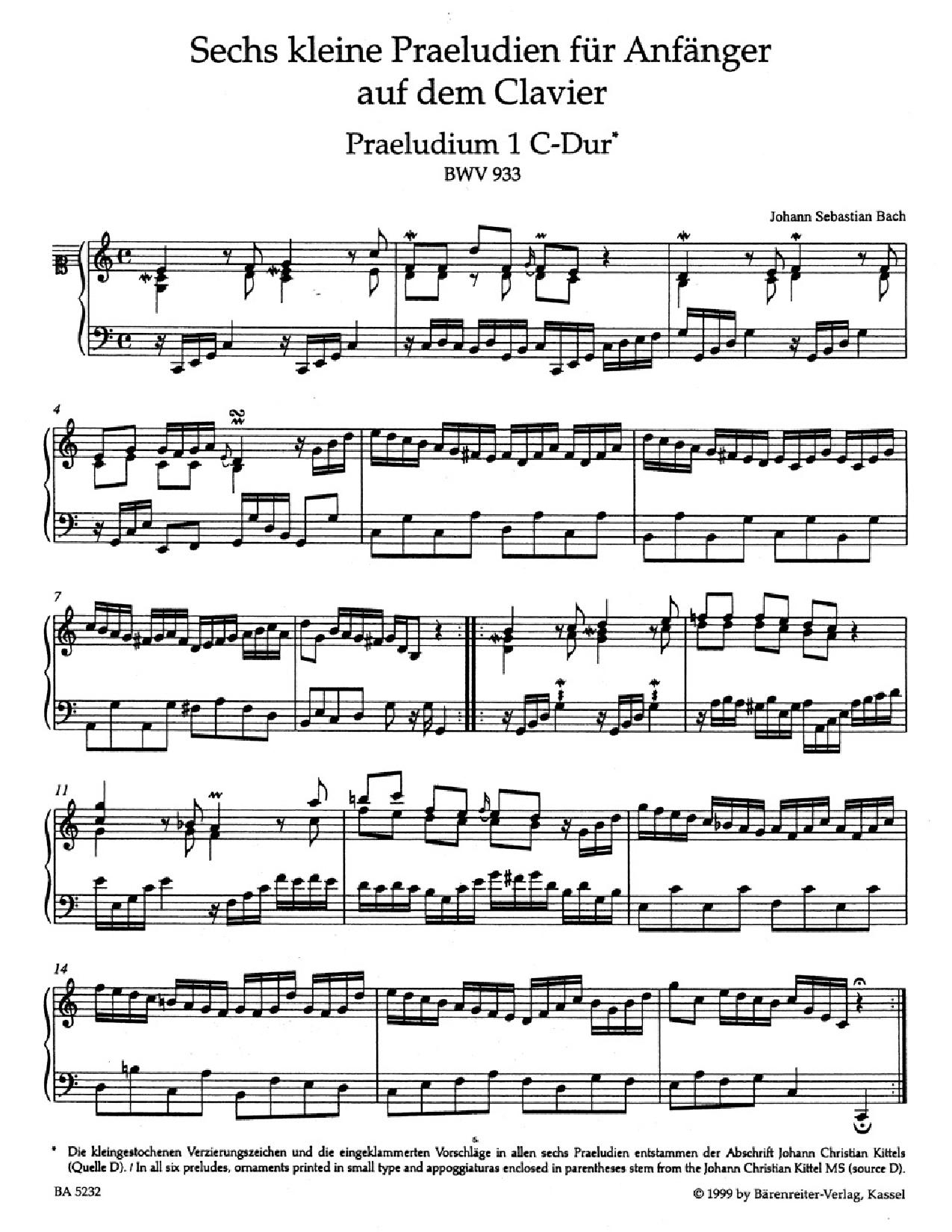 Works for keyboard (BWV 772–994)