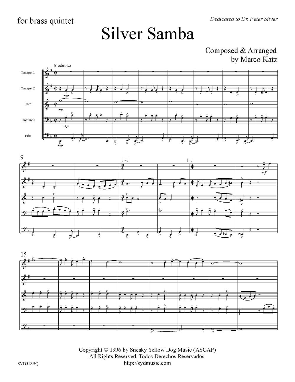 Silver Samba-Brass Quintet Thumbnail