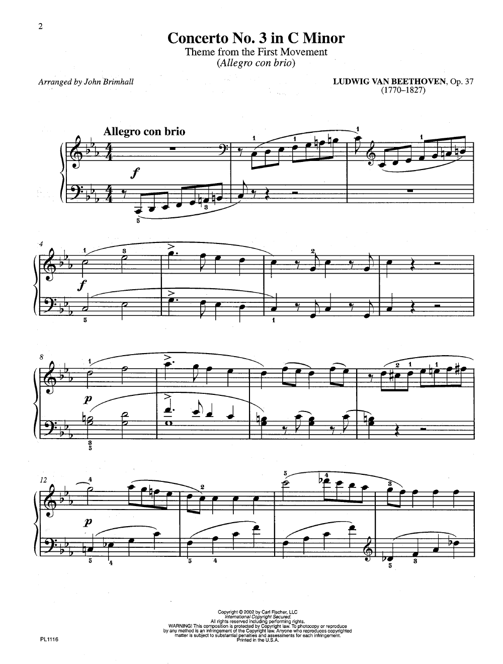 Concerto Themes Made Easy (Piano) arr  | J W  Pepper Sheet