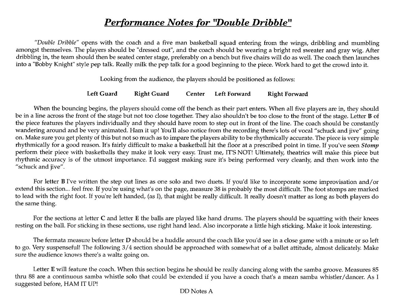 Double Dribble (Percussion Sextet ) b | J W  Pepper Sheet Music