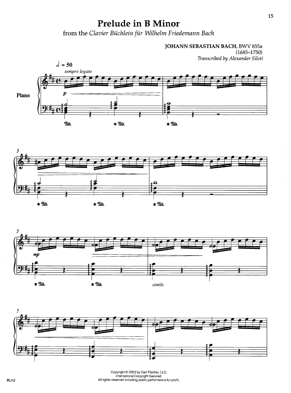 Alexander Siloti Collection (Piano) by Alexander | J W  Pepper