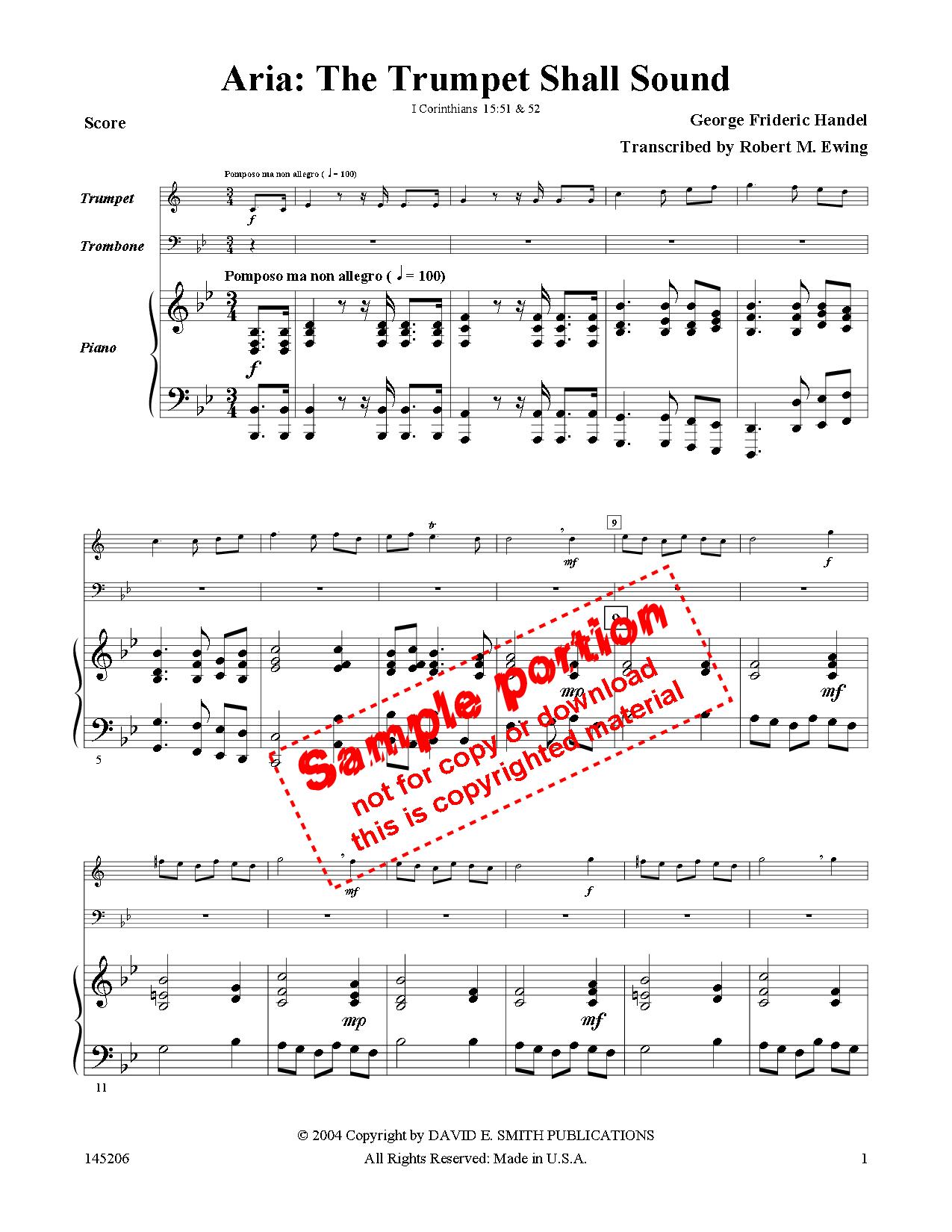 The Trumpet Shall Sound (Trumpet, Trombone D   J W