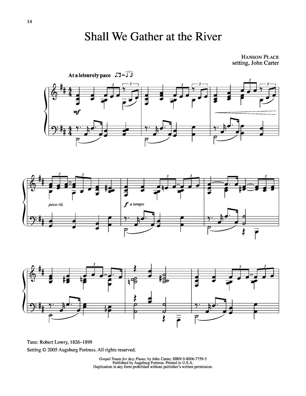 Gospel Treats for Jazz Piano (Piano) arr  John Ca | J W