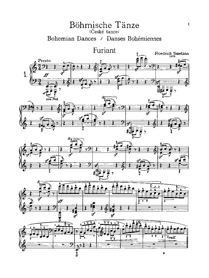 Six Bohemian Dances: Piano Collection: (Kalmus Edition)