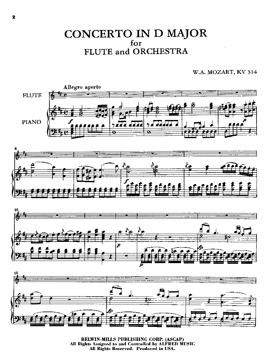 mozart flute concerto in d 2nd movement