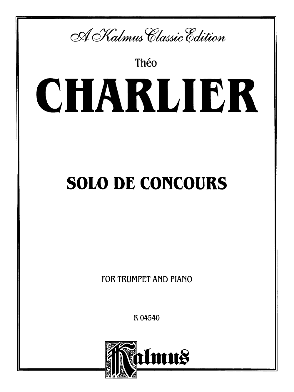 Solo de Concours (Trumpet Solo with Piano&nb   J W  Pepper