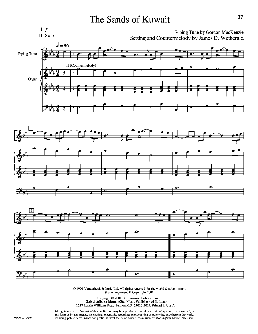 Highland Cathedral by James Wetherald| J W  Pepper Sheet Music