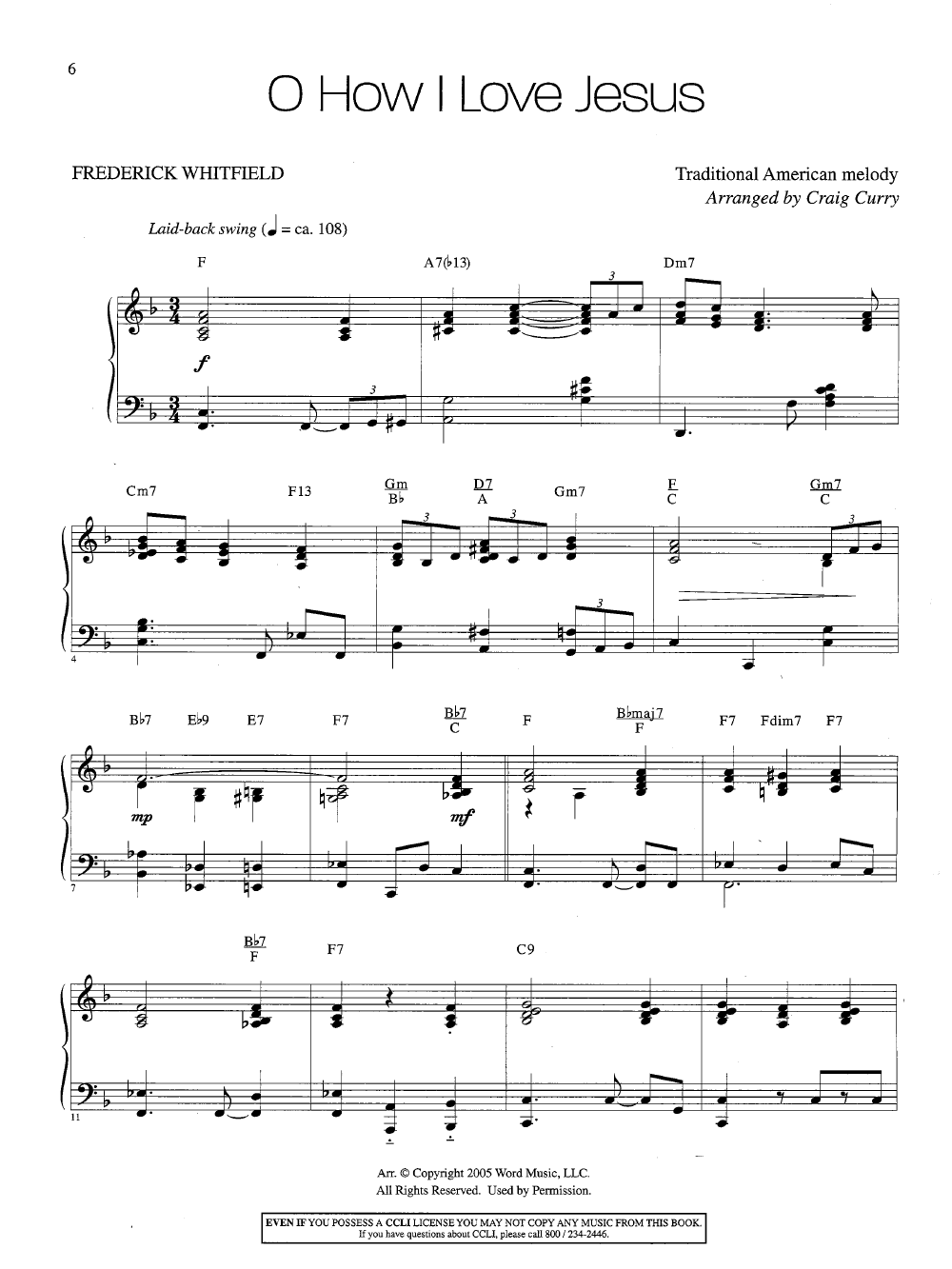 Gospel Improv (Piano) arr  Craig Curry| J W  Pepper Sheet