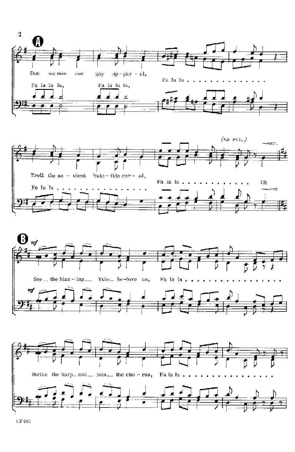 Deck the Halls in 7/8 (SATB ) by James McKel   J W  Pepper